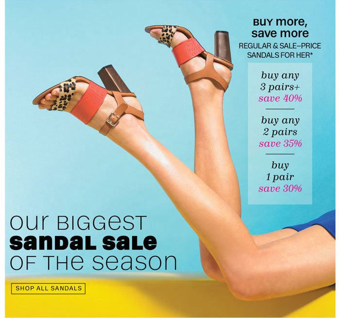 Our Biggest Sandal Sale of the Season. Shop All Sandals.