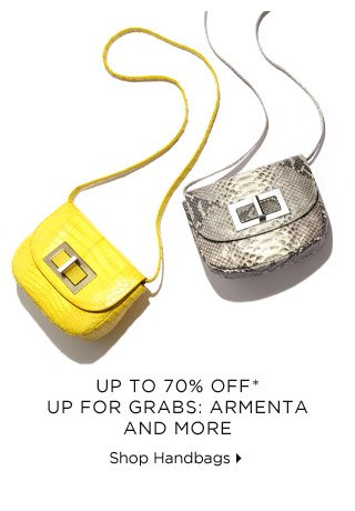 Up To 70% Off* Up For Grabs: Armenta & More