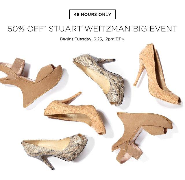 50% Off* Stuart Weitzman Big Event