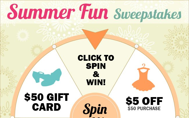 Spin the wheel and win dancewear prizes.