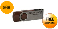 Team Color Turn 8GB USB 2.0 Flash Drive (Brown)