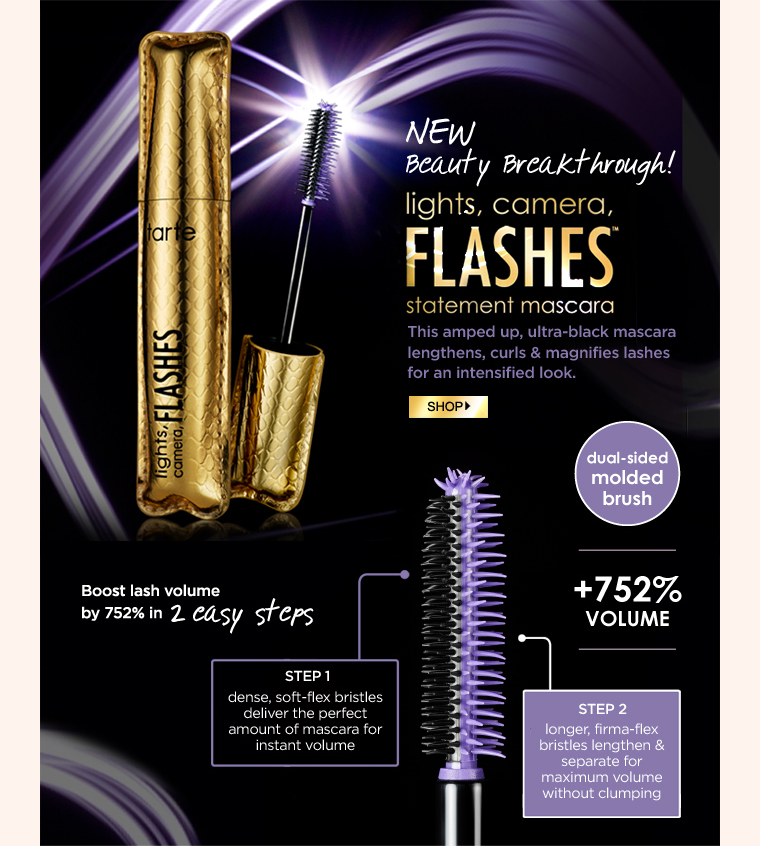 lights camera flashes statement mascara