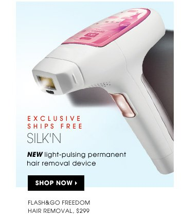 New light-pulsing permanent hair removal device. new . exclusive . ships free. Silk'n Flash&Go Freedom Hair Removal, $299. Shop now