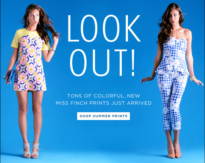 Look Out! Tons of Colorful, New Miss Finch  Prints Just Arrived