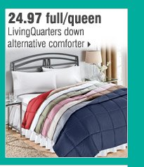 24.97 full/queen LivingQuarters down alternative comforter