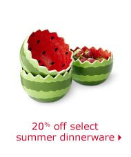 20% off select summer dinnerware