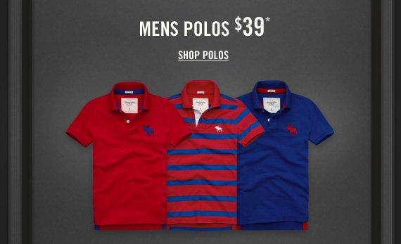 MENS POLOS $39* SHOP  POLOS