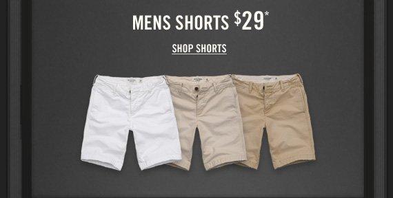 MENS SHORTS $29* SHOP  SHORTS