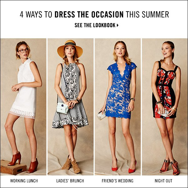 Prep your wardrobe for summer socializing. Find great little dresses for everything from working lunches to ladies' brunches in our summer dress edit. Shop now >>