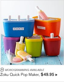 MONOGRAMMING AVAILABLE - Zoku Quick Pop Maker, $49.95