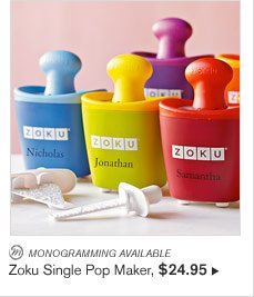 MONOGRAMMING AVAILABLE - Zoku Single Pop Maker, $24.95