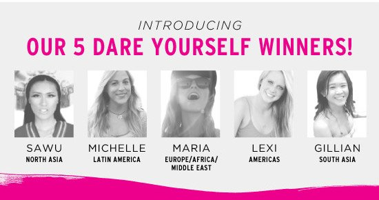 Introducing Our 5 Dare Yourself Winners!