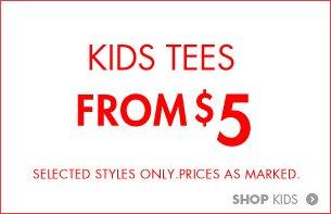 Kids tees $5!