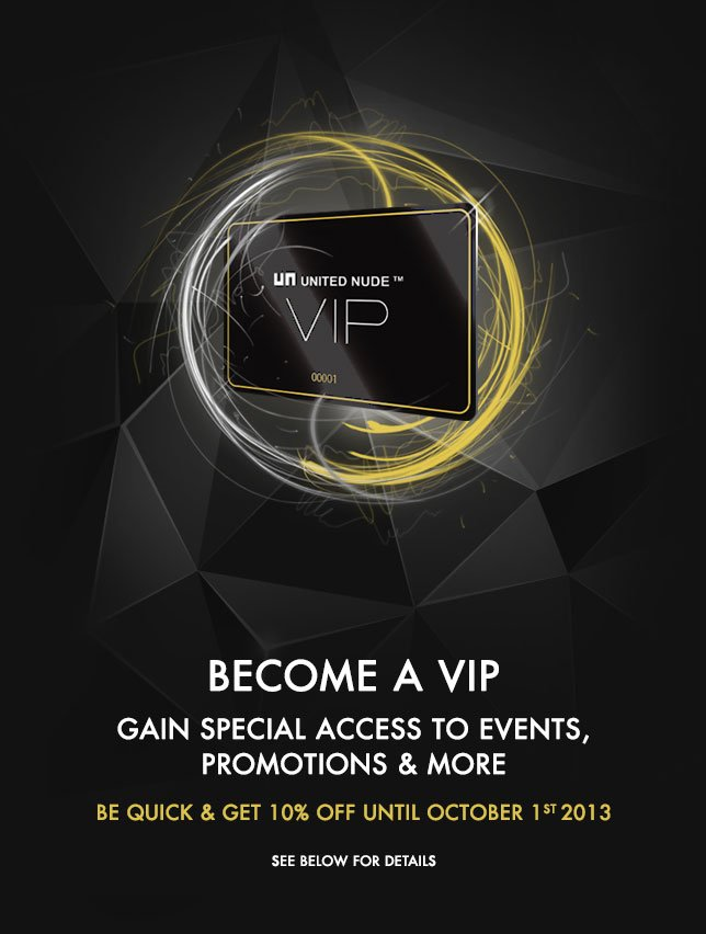 Become a VIP & get 10% OFF any fully-priced purchase until October 1st