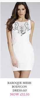 Baroque Mesh Bodycon Dress
