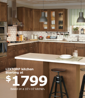 LIXTORP kitchen starting at $1799
