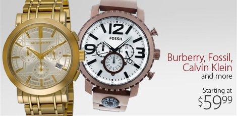 Burberry, Fossil, Calvin Klein & more