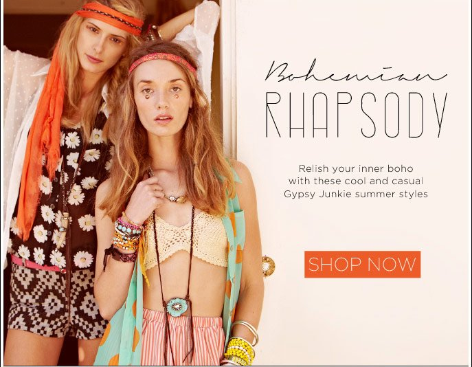 Bohemian Rhapsody. Relish Your Inner Boho With These Cool and Casual Gypsy Junkie Summer Styles