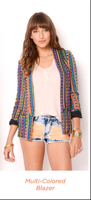 Multi-Colored Blazer