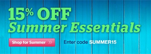 15% OFF Summer Essentials