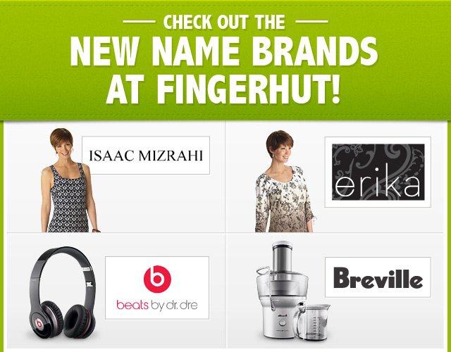 New Name Brands at Fingerhut