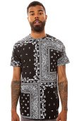 The Paisley Squares Tee in Black