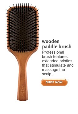 wooden paddle brush. shop now.