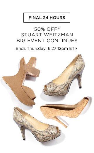 50% Off* Stuart Weitzman Big Event Continues