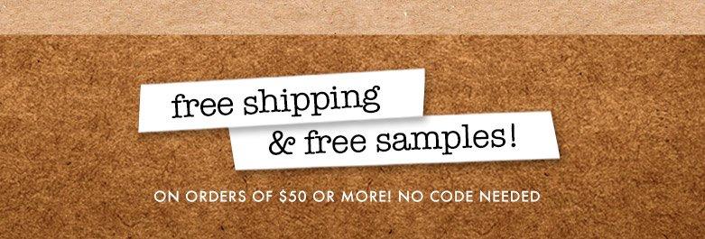 freeshipping & free samples!