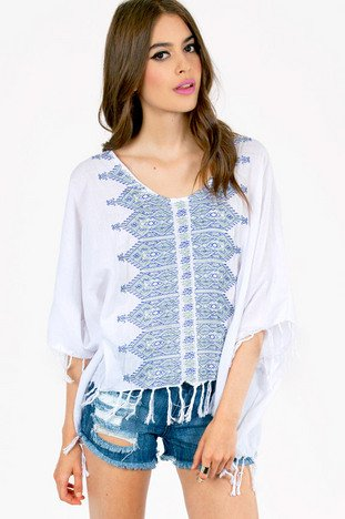 EMBROIDERED TASSEL TOP 43