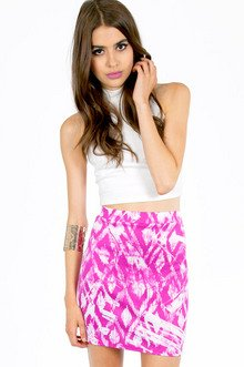 DISTRESSED PAINTER SKIRT 28