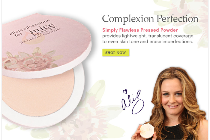 Complexion Perfection with Simply Flawless Pressed Powder
