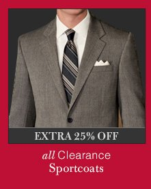 Clearance Sportcoats - Extra 25% OFF