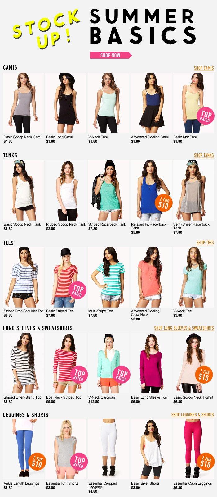Stock Up On Summer Basics! - Shop Now