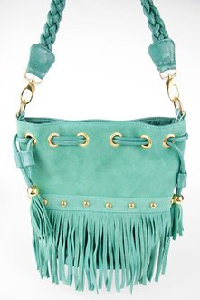 BRAIDED FRINGE BUCKET BAG 46