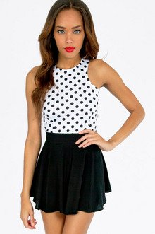 CIRCLE CIRCLE DOT DOT CROP TOP 18