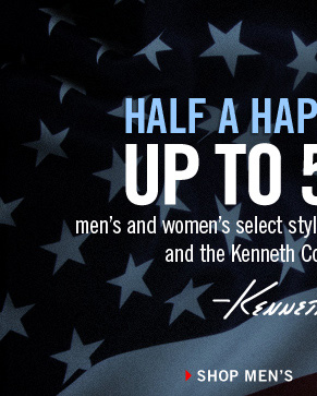 UP TO 50% OFF men's and women's select styles at Kenneth Cole Outlet stores and the Kenneth Cole Online Outlet store. // SHOP MEN'S
