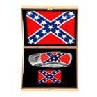 Rebel Flag Knife and Lighter Set
