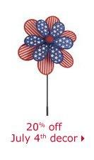 20% off July 4th decor