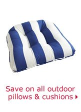 Save on all outdoor pillows & cushions