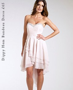 Dippy Hem Bandeau Dress