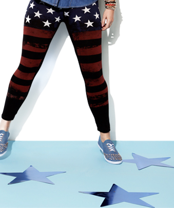 Shop American Flag Printed Legging
