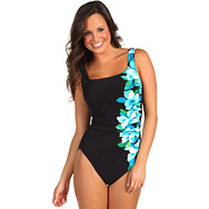 Miraclesuit Left of Center Side Swipe Swimsuit