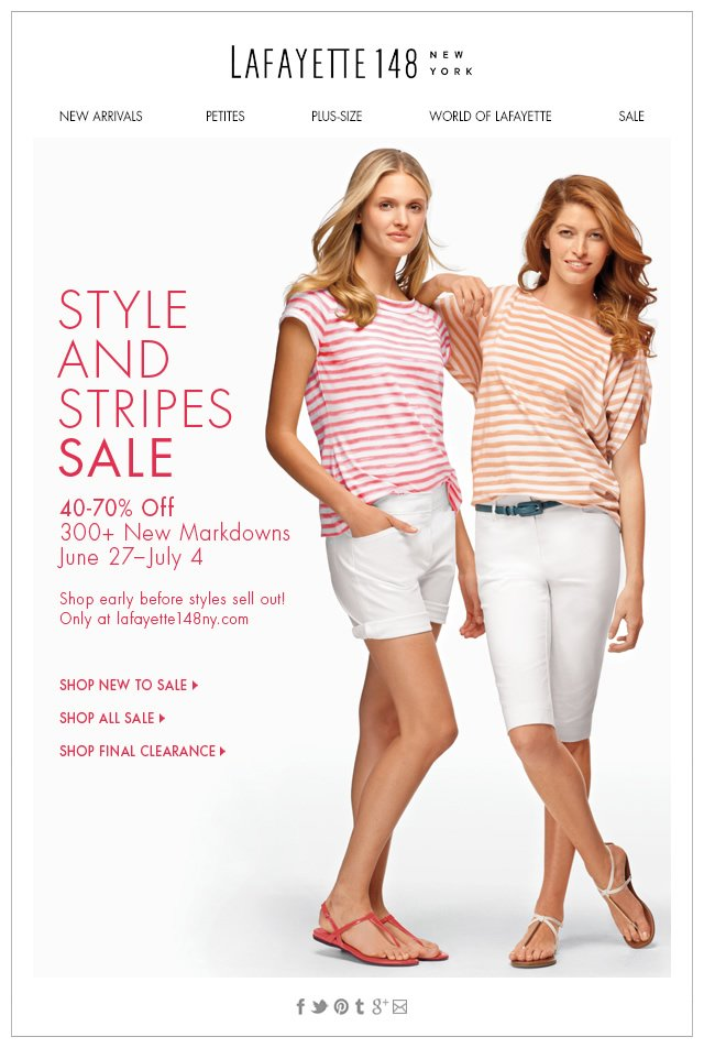 4th of July Style and Stripes Sale