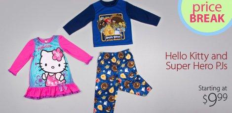 Hello Kitty and Super Hero PJ's