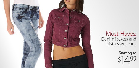 Must Have: Denim Jackets and Distressed Jeans