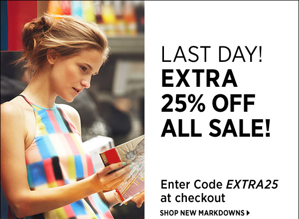 Take an extra 25% off sale with code EXTRA25. Offer ends Thursday, June 27 at 11:59pm PT. Code is valid on sale items only. Other restrictions may apply. See full terms and conditions at www.shopbop.com/extra25. >>