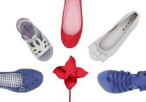 RED, WHITE & BLUE: KIDS' SHOES