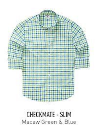 Checkmate Macaw Green & Blue