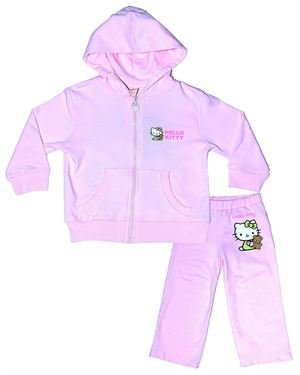 Hello Kitty 2 Piece 100% Organic Cotton Hoodie and Pants Set